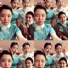 KOREAN AIR Flight Attendant/ Cabin Crew of ✩INSTAGRAM✩ #신남신남 #동기사랑 #행복 #첫째날  교육일주일 좋다좋아 계속 교육만 계속 할랭
