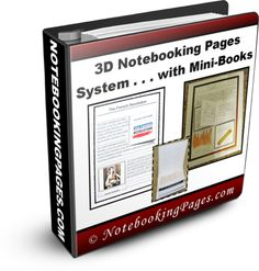 3-D Notebooking Pages Templates & Mini-Books