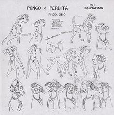 Disney's 101 Dalmations model sheets