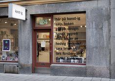 Presentation and sales of the book Grafisk design: Henrik Nygren (see Orosdi-Back) at the art bookstore Konst-ig in Stockholm. Display Design, Diy Design, Brand Design, Store Design, Interior Design, Graphic Design Tattoos, Architecture Art Nouveau, Bread Shop, Bread Maker Recipes
