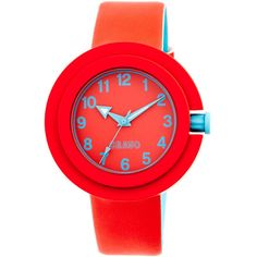 CRAYO Red & Cerulean Equinox Watch ($25) ❤ liked on Polyvore featuring jewelry, watches, analog wrist watch, water resistant watches, crayo, crown jewelry and quartz movement watches
