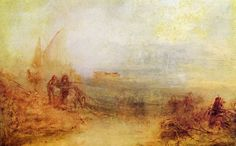 Turner, Joseph Mallord William: Wracks an der Küste: Sonnenaufgang im Nebel (Wreckers on the Coast: Sun rising through Mist)