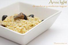 Arroz light de verduras y aceitunas negras - http://www.thermorecetas.com/2014/05/06/arroz-de-verduras-light-y-anticrisis/