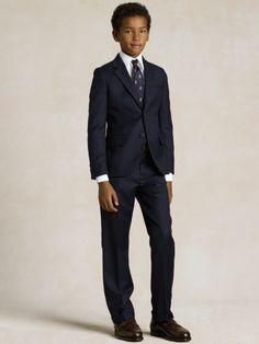 Two-Button Navy Suit - Boys 8-20 Suits \u0026amp; Sportcoats - RalphLauren.