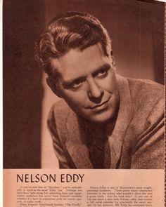 Magazine clipping on Nelson Eddy - Escano Collection