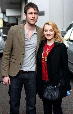 Evanna Lynch and Matthew Lewis at London Studios