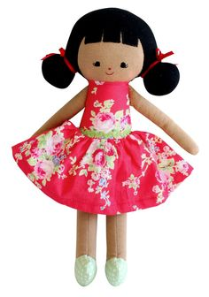 This little Audrey doll has a gorgeous floral dress. A great gift for girls who are looking for their first doll. Audrey Doll, Little Unicorn, Gifts For Girls, Baby Love, Minnie Mouse, Kids Outfits, Great Gifts, Nursery, Dolls