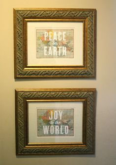 Free Joy to the World and Peace on Earth map printables @ TheFamilyCEO.com.