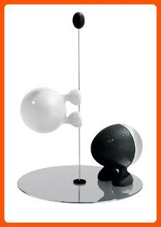 A Di Alessi Lilliput Salt And Pepper Set - Black/White - Kitchen gadgets (*Amazon Partner-Link)