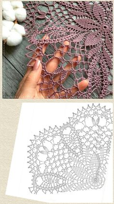 Crochet Doily Diagram, Crochet Mandala Pattern, Crochet Flower Tutorial, Crochet Beanie Pattern, Crochet Square Patterns, Crochet Circles, Crochet Art, Thread Crochet, Crochet Crafts