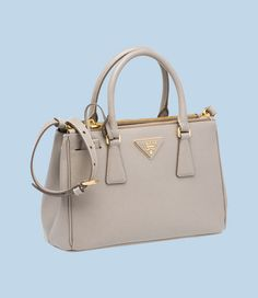 faf3318692e5 Prada Galleria small pale grey bag Mini Handbags