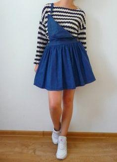Kup mój przedmiot na #vintedpl http://www.vinted.pl/damska-odziez/spodnice/10600757-denim-m-l-spodnica-rozkloszowana-spodniczka-jeansowa-dzinsowa-ogrodniczki-ogrodniczka-hit-jesien