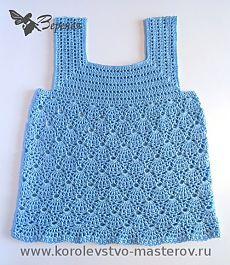 Summer T-shirt crochet for girls