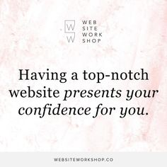 There is no doubt about it when you have confidence in your website you'll have confidence in your business. Yes of course it's important to have strong self-belief first but as your external representation of you and your brand having a top-notch website does half the work of presenting your confidence for you... when you do it right and we'll show you how to do it right in Website Workshop. . . #websiteworkshop #squarespace #copy #copywriting #design #branding #wellness #nutrition #natural…