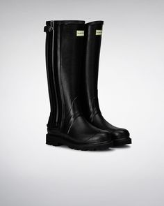 Womens Black Balmoral Sovereign Zip Wellies | Official Hunter Boots Site