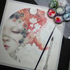 The Art of Stephanie Pui Mun LawStephanie Pui-Mun Law (born is an American painter and illustrator who works predominantly in watercolor and whose art is inspired by and depicts scenes of. Watercolor Flowers, Watercolor Paintings, Watercolour, Peony Painting, Watercolor Landscape, Abstract Paintings, Inspiration Art, Dream Art, Watercolor Portraits