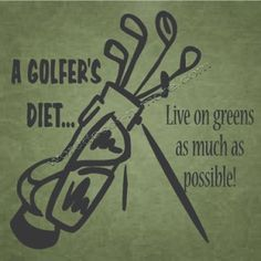 A Golfer's Diet, Humorous Wall Quote | Removable Wall Word Art for ...