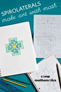 Create amazing math art patterns with spirolaterals. A creative way to practice multiplication tables. Math Activities For Kids, Math For Kids, Fun Math, Math Resources, Steam Activities, Big Kids, Math Projects, Math Crafts, Homeschool Math