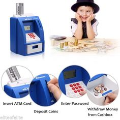 Digital atm mini money saver #machine #piggy bank coin note #counter gift for kid,  View more on the LINK: http://www.zeppy.io/product/gb/2/181969651942/
