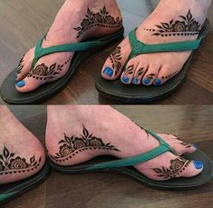 Stylish Henna Designs in Sandal Chappal Henna Hand Designs, Mehndi Designs Feet, Mehndi Designs 2018, Stylish Mehndi Designs, Bridal Henna Designs, Mehndi Design Pictures, Beautiful Mehndi Design, Mehndi Desing, Tattoo Foto