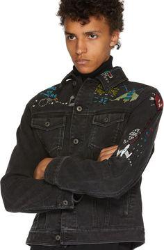 Valentino - Black Denim Video Game Jacket