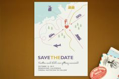 Destination Save the Date Postcards by Unless Someone Like You at minted.com