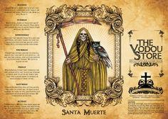 14-Day Candle Label - Santa Muerte (Gold)