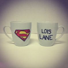 Superman Couple Mugs... So cute & perfect for my brother and his girlfriend!