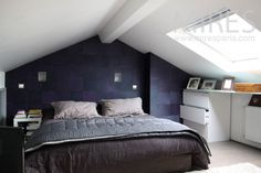 Space saving bedroom on the attic. Garage Extension, Attic Conversion, Skylight, Beautiful Bedrooms, Ikea, The Originals, Interior Design, House, Inspiration