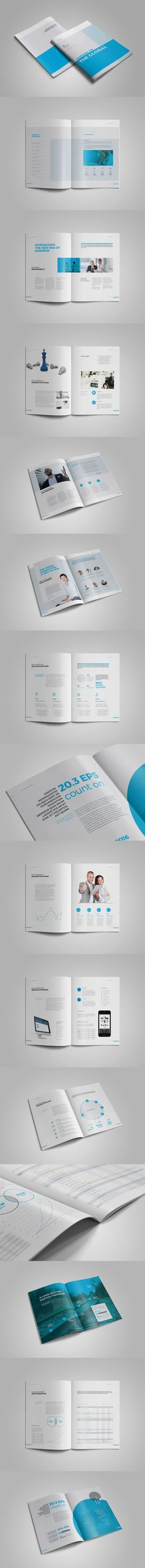 Clean \ Professional Complete Business Plan Brochure Template INDD - professional report template