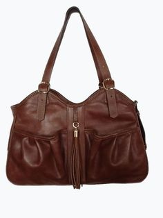 Petote Metro Couture All Leather with Tassel Dog Carrier Toffee Brown Large *** Click on the image for additional details.