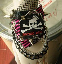 Gothic Punk Multi Layered Wrist Cuff