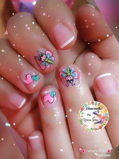 Little Girl Nails, Girls Nails, Nail Art, Gold Nails, Brunette Girl, Templates, Toe Nail Art, Nail Designs For Kids, Pedicures