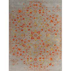 Bolton Rug Artist Silver-Orange Color Hand-Tufted Area RugFeatures:Plush Pile/Durable/Easy CarePlush PileDurable
