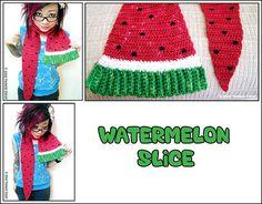 Twinkie Chan - Watermelon slice - crochet- scarf