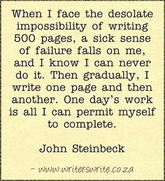 Read more about John Steinbeck ~~~~~ Writers Write offers the best writing courses in South Africa. Writers Write - Write to communicate Writing Advice, Writing Help, Writing A Book, Writing Prompts, Writing Resources, Writing Software, Writing Workshop, Teaching Writing, Writing