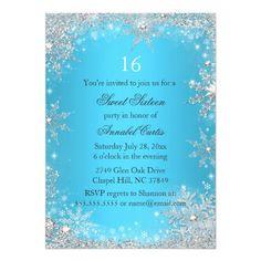 31 Best Winter Wonderland Invitations Images Snowflakes Sweet 16