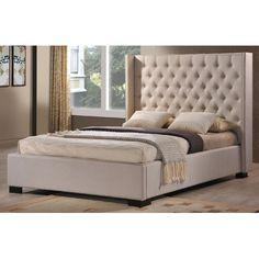 Too Tall?? LuXeo Newport Wingback Bed & Reviews | Wayfair...$1209.99