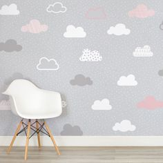 pink-and-grey-clouds-pattern-nursery-square-wall-mural