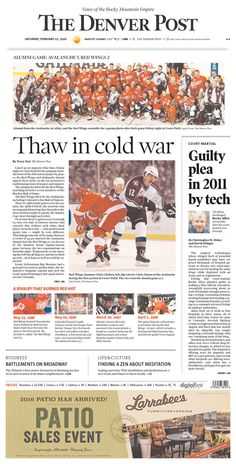 #20160227 #USA #DENVER #COLORADO #TheDenverPost Saturday FEB 27 2016 http://www.newseum.org/todaysfrontpages/?tfp_show=80&tfp_page=1&tfp_id=CO_DP