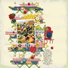 Page Ideas for Scrapbooking Your Food   Karen-Poirier-Brode   Get It Scrapped