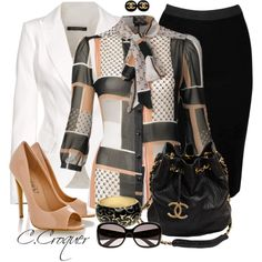 """""""Bow Blouse"""" by ccroquer on Polyvore"""