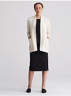 5112c35e739 Kimono Bracelet-Sleeve Cardigan in Organic Cotton Recycled Polyester  Ottoman-F7GPO-K4309