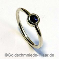 Silberring mit Iolith