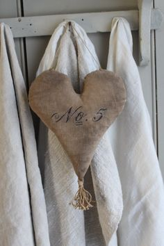 Primitive Fabric Heart with Number