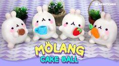 몰랑몰랑 몰랑이 케익볼 만들기! How to Make Molang Cake Balls! - Ari Kitchen