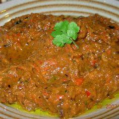 Spicy Aubergine (Eggplant) and Red Pepper Tapenade - Dip Recipe - Edamam