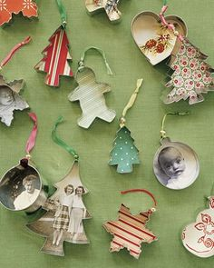 cookie cutter ornaments...did this one year with old pictures of family members and used them as gift tags to identify who the present was for!!!!
