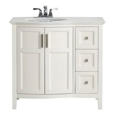 Simpli Home 4AXCVWNRW-36 Winston 36 in. Single Bathroom Vanity