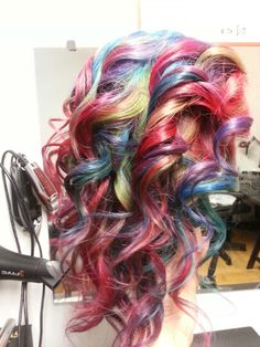 #rainbowhair with blue green red                           Instagram: TriantafillidisBros                      facebook.com/TriantafillidisBros            #TriantafillidisBros